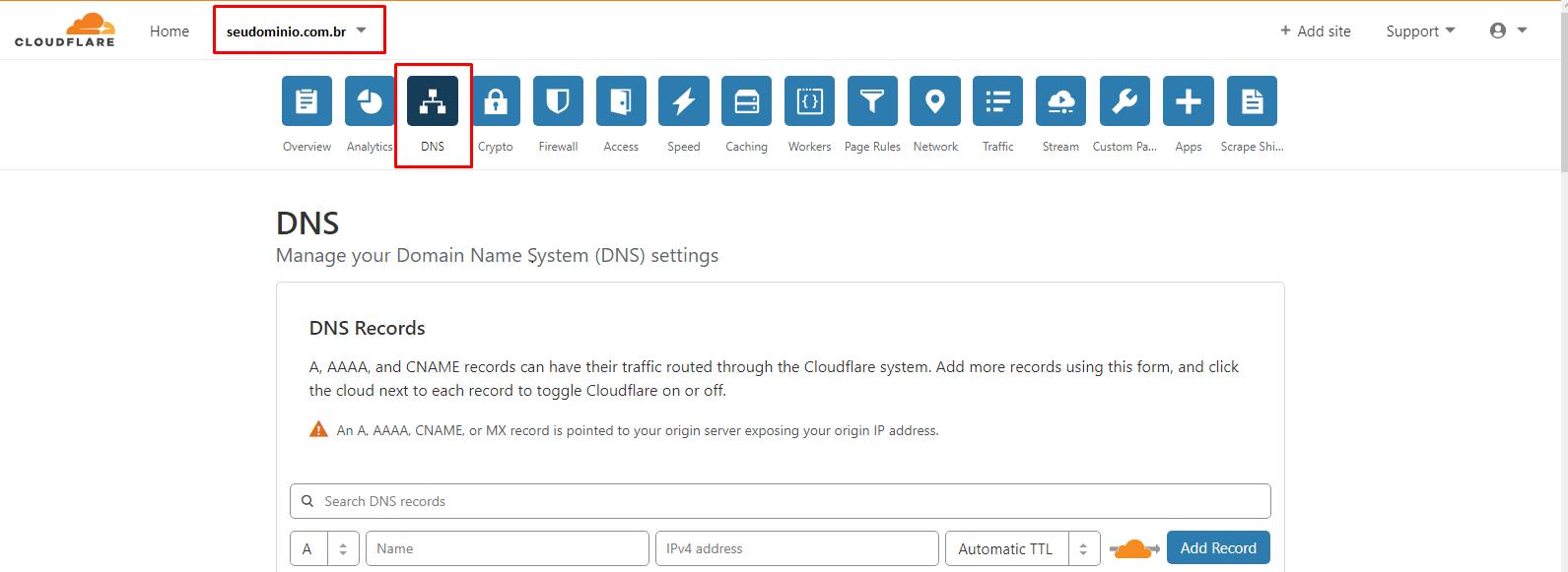 DNS config